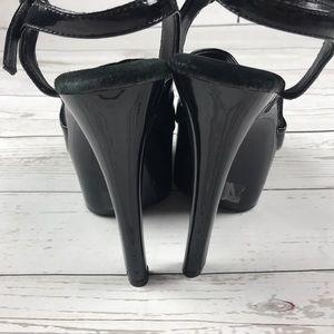 Shoes - 🍒Ellie Cherry Black Patent Leather Platform Heels